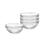 Duralex Lys Clear 1.25 Ounce Stackable Bowl, Set of 4