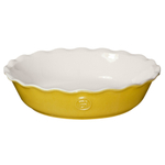 Emile Henry Leaves Ceramic 9 Inch Pie Dish
