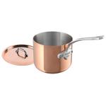 Mauviel M'cook Copper 3.6 Quart Saucepan and Lid