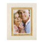 Lenox 50th Anniversary Ivory & Gold 5 x 7 Inch Frame