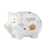 Lenox Butterfly Meadow Porcelain Baby Piggy Bank