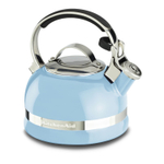 KitchenAid Cameo Blue 2 Quart Kettle with Full Stainless Steel Handle and Trim Band