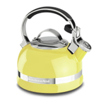 KitchenAid Citrus Sunrise 2 Quart Kettle with Full Stainless Steel Handle and Trim Band