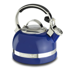 KitchenAid Doulton Blue 2 Quart Kettle with Full Stainless Steel Handle and Trim Band