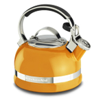 KitchenAid Mandarin Orange 2 Quart Kettle with Full Stainless Steel Handle and Trim Band
