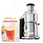 Breville Die-Cast Juice Fountain Elite Juicer with Bonus Tuttle Juices and Smoothies Cookbook