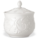 Lenox Opal Innocence Carved Porcelain 5.5 Inch Sugar Bowl