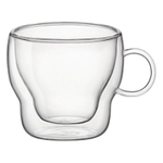Bormioli Rocco Double Wall Glass 3 Ounce Espresso Mug, Set of 2