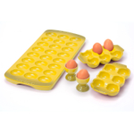 Le Creuset Soleil Yellow Stoneware 5 Piece Egg Collection