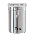 OGGI Stainless Steel 60 Ounce Clamped Tea Canister