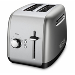 KitchenAid Contour Silver 2-Slice Long Slot Toaster with Manual Lift Lever