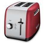 KitchenAid Empire Red 2-Slice Long Slot Toaster with Manual Lift Lever