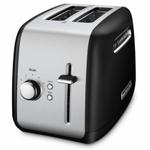 KitchenAid KMT2115OB Onyx Black 2-Slice Long Slot Toaster with Manual Lift Lever