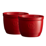 Emile Henry Burgundy 6.8 Ounce #8 Ramekin, Set of 2