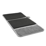 Prepara Drydock Antibacterial Gray Deluxe Dish Mat
