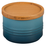 Le Creuset Marine Stoneware 12 Ounce Canister with Wooden Lid