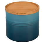 Le Creuset Marine Stoneware 1.5 Quart Canister with Wood Lid