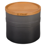 Le Creuset Oyster Stoneware 1.5 Quart Canister with Wood Lid