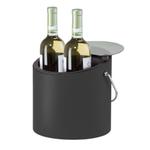 Oggi Vinyl 4 Quart Ice and Wine Bucket with Acrylic Lid and Ice Scoop