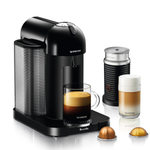 Breville Nespresso Vertuo Black Espresso and Coffee Machine Bundle with Aeroccino Milk Frother