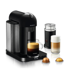 Breville Nespresso Vertuo Matte Black Espresso and Coffee Machine Bundle with Aeroccino Milk Frother