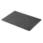 Revol Basalt Slate Porcelain 11.75 x 7.75 Inch Rectangular Serving Plate