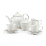 Lenox French Perle White 7 Piece Tea Set, Service for 2