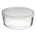 Bormioli Rocco Frigoverre 10.25 Ounce Basic Round Container with Frosted Lid