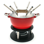 Swissmar Noirmont Red 10-Piece Fondue Set