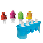Tovolo Silicone Robots Ice Pop Mold, Set of 4
