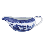 HIC Porcelain Blue Willow 20 Ounce Gravy Boat