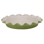 Rose Levy Beranbaum Sage Ceramic 9 Inch Perfect Pie Plate