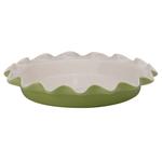 Rose's Levy Beranbaum Sage Ceramic 9 Inch Perfect Pie Plate