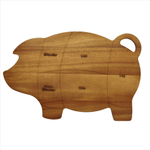 Paula Deen Pantryware Wooden Pig 8.5 x 14 Inch Cutting and Serving Board