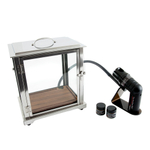 Crafthouse by Fortessa Stainless Steel and Glass Smoke Box with Smoke Gun