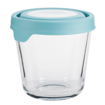 Anchor Hocking 3.5 Cup Round Kitchen Storage Container with Mineral Blue TrueSeal Lid