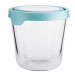 Anchor Hocking 7 Cup Round Kitchen Storage Container with Mineral Blue TrueSeal Lid