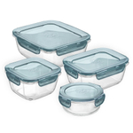 Bormioli Rocco Evolution Slate Grey Glass 8 Piece Storage Set
