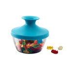Tomorrow's Kitchen Blue 17 Ounce PopSome Nuts & Candy Bowl with Sleeve