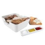 Tomorrows Kitchen White 3 Piece Bread & Dip Set