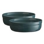 Emile Henry Blue Flame Ceramic Creme Brulee Dish, Set of 2