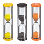Kuchenprofi Black, Orange, and Yellow 3 Piece Egg Timer Set