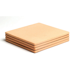 Pizzacraft ThermaBond 7.5 Inch Square Mini Pizza Stone Tile, Set of 4