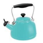 Chantal Aqua Enamel-on-Steel 1.7 Quart Vintage Teakettle