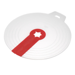 Kuhn Rikon Red and White Silicone 12 Inch Mixer Splatter Guard