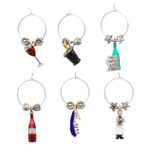 Supreme Housewares Sommelier 6 Piece Painted Wine Charm Set