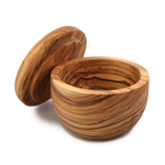 Swissmar Napoli Olive Wood Salt Keeper with Removable Lid