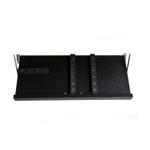 The Drop Block Black 18 x 9.5 Inch Magnetic Knife Storage Unit