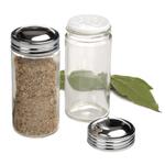 RSVP Clear Glass Spice Jar, Set of 4