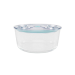 Click Clack Glass Round Cook and Store 3.2 Quart Covered Container